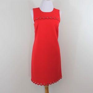J Crew Red Sheath Sleeveless Knee Dress 2 XS S